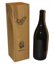 "Caja madera 1 botella cava geroboham (3L) impresión ""Cava"""