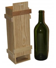 Caja madera con listón 1 botella mágnum vino
